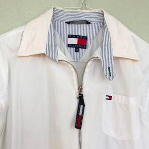 Tommy Hilfiger Women's White Lightweight Jacket M